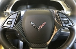 C7 Corvette 2014-2019 Carbon Fiber Look Steering Wheel Trim Cover