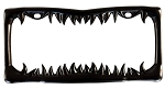 Black Shark Tooth License Plate Frame