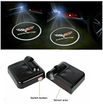 C6 Corvette 2005-2013 Wireless LED Projector Lights - Cross Flags & Lettering