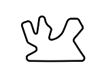 Asia Track Outline Decals - Qatar - Size & Color Selection