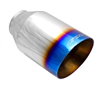 ARK Performance Resonated Dual Layer Large Exhaust Tip w/ Logo - Finish Options