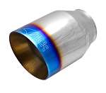 ARK Performance Resonated Dual Layer Small Exhaust Tip w/ Logo - Finish Options