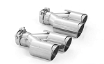 ARK Performance Slip On Quad Exhaust Tips - Material Options