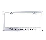 C5 Corvette 1997-2004 License Plate Frame w/ Laser Etched Logo - Finish Options