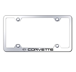 C4 Corvette 1984-1996 Wide Body License Plate Frame w/ Laser Etched Logo - Finish Options