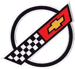 C4 Corvette 1984-1996 Front Hood Nose Emblem Patch - 9.5-inch - White