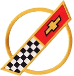 C4 Corvette 1984-1996 Front Hood Nose Emblem Patch - 9.5-inch - Gold