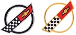 C4 Corvette 1984-1996 Corvette Race Team Front Hood Nose Emblem 3.5 Inches - 2pcs