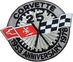 C3 Corvette 1978 25-Year Anniversary Iron-on Patch