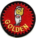 C3 Corvette 1978 Esso Oil Golden Boy Iron-on Patch