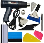 Automotive Wrap/Tint/Vinyl Installation Tool Kit w/ LCD Display Heat Gun - 8pc Set
