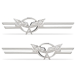 C5 Corvette 1997-2004 Chrome Billet Badges with Emblem