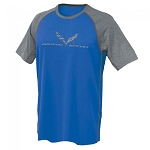 C7 Corvette 2014+ Grand Sport Reverse Mesh Tee - Royal