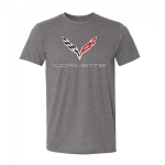 C7 Corvette 2014-2019 Crossed Flags Tee