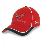 C7 Corvette 2014+ Stingray Under Armour Stingray Fitted Cap - Red/White