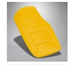 C6 Corvette 2005-2013 Leather Console Cushions - Velocity Yellow