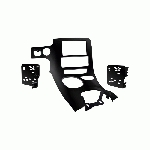 C5 Corvette 1997-2004 Double DIN Conversion Center Console Bezel