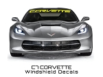 C7 Corvette Stingray/Z06/Grand Sport 2014+ Windshield Lettering CORVETTE Script