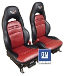 C5 Corvette 1997-2004 Z06 Inspired Leather Sport Seat Covers - Pair