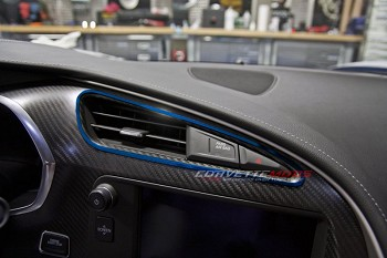C7 Corvette Stingray/Z06/Grand Sport 2014+ Custom Painted A/C Vent Trim 2pc