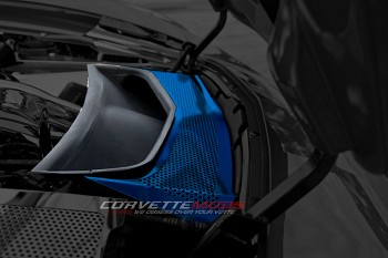 C7 Corvette Stingray/Z06/Grand Sport 2014+ Custom Painted Vent Tube Cover - Solid or Perforated