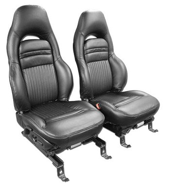 C5 Corvette 1997-2004 100% Leather Seat Covers - Solid