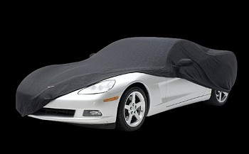 C6 Corvette 2005-2013 Stretch Indoor Car Cover W / C6 Emblem - Black