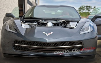 C7 Corvette Stingray 2014+ Hydro Carbon Fiber Retro Matrix Style Front Grill - 3 Piece