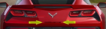 C7 Corvette Stingray / Z06 / Grand Sport 2014-2019 Custom Painted Rear Bumper Corvette Lettering