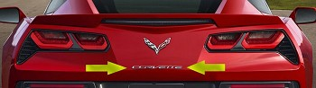 C7 Corvette Stingray / Z06 / Grand Sport 2014+ Chrome Rear Bumper Corvette Lettering