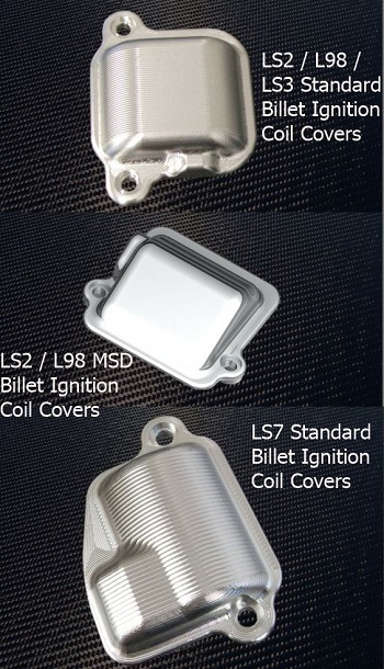 C6 Corvette 2005-2013 LS2 / L98 / LS3 / LS7 Street Performance Billet Ignition Coil Covers