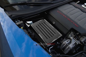 C7 Corvette Stingray/Z06/Grand Sport 2014-2019 Hydro Carbon Fiber Fuse Box Cover w/ Ribbed Slots