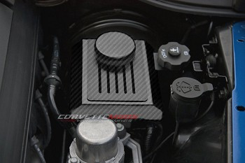 C7 Corvette Stingray/Z06/Grand Sport 2014+ Hydro Carbon Fiber Brake Master Cylinder Cover W/ Ribbed Slots