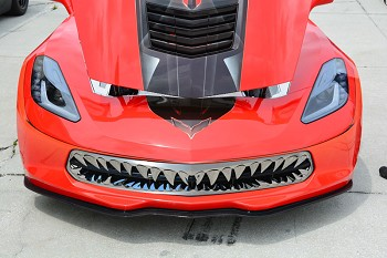 C7 Corvette Stingray 2014-2019 Stainless Steel Shark Tooth Grille - Polished & Black Finishes