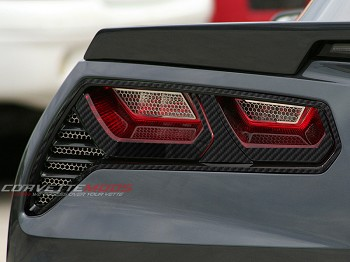 C7 Corvette Stingray / Z06 / Grand Sport 2014-2019 Hydro Carbon Fiber Tail Light Trim Kit