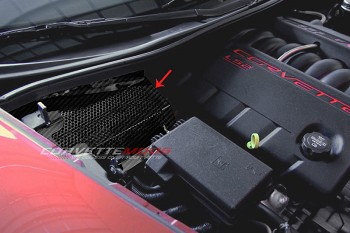 C6 Corvette 2005-2013 Hydro Carbon Fiber Battery Cover - Perforated