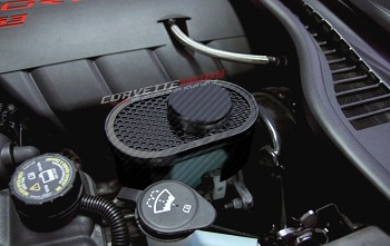 C6 Corvette 2005-2013 Hydro Carbon Fiber Master Cylinder Cover - Perforated