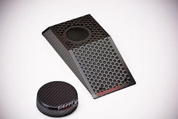 C6 Corvette Z06/Grand Sport 2008-2013 Hydro Carbon Fiber Power Steering Reservoir Cover w/Cap - Perforated