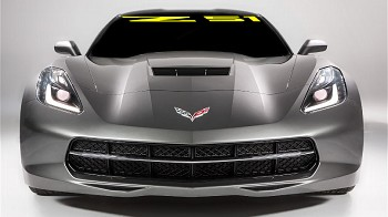 C7 Corvette Stingray 2014-2019 Windshield Decal - Z51 Logo