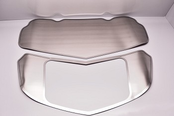 C7 Corvette Stingray/Z06/Grand Sport 2014-2019 Brushed Solid Hood Panel Kit - 2 Pieces
