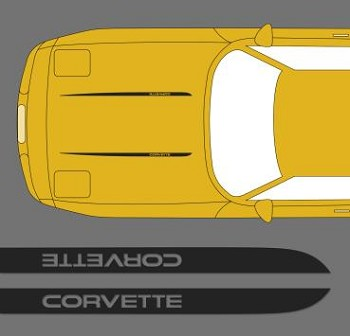 C4 Corvette 1984-1996 Hood Stripe Decals - Pair