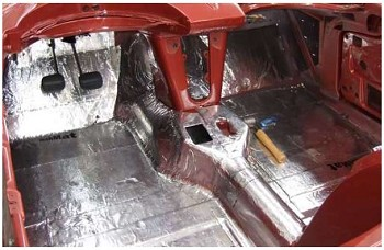 C3 C4 Corvette 1968 1996 Hushmat Floor Dash Insulating