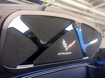 C7 Corvette Stingray/Z06/Grand Sport Convertible 2014-2019 Trunk Lid Brace - Brushed/Polished