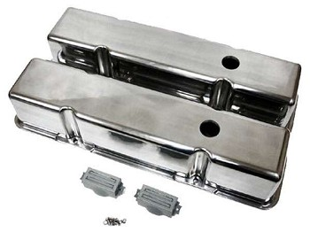 C3 C4 Corvette 1968-1986 Small Block Tall Valve Covers - Smooth