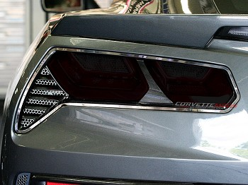 C7 Corvette Stingray/Z06/Grand Sport 2014-2019 4-Piece Acrylic Full Separate Tail Light Blackout Cover Set