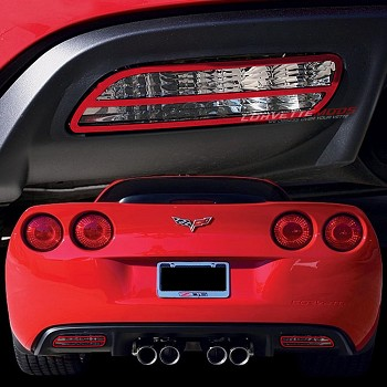 C6 Corvette 2005-2013 Custom Painted Billet Rear Back-Up Light Bezel Set