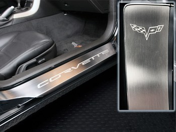 C6 Corvette 2005-2013 Stainless Etched Doorsill Guards