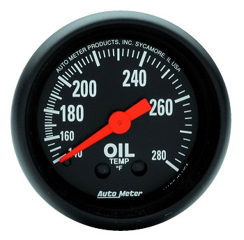 Autometer 2-1/16 inch Oil Temperature Gauge 140-280F