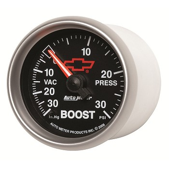 Autometer 2-1/16 inch Boost/Vacuum Gauge 30 IN HG/30 PSI - GM Black