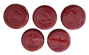 C6 Corvette 2005-2013 Custom Painted Cap Cover 5pc Set